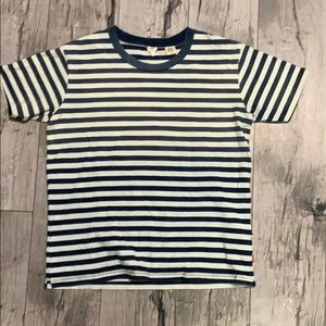 Levi's Striped Navy and White Tee Shirt